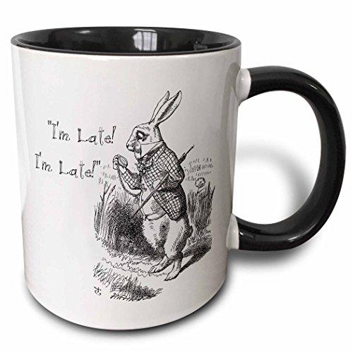 3dRose mug_193791_4 Alice in Wonderland White Rabbit I