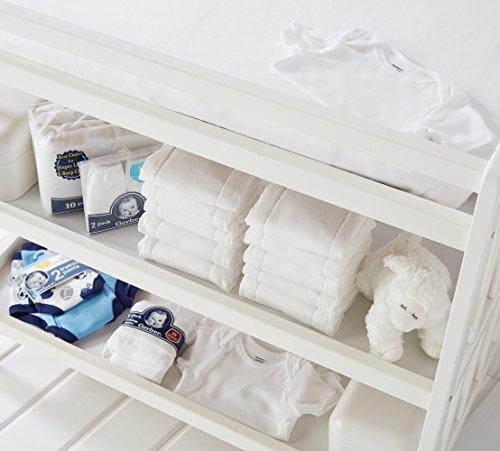 Gerber Unisex-Baby 5 Variety Pack Onesies Brand, White, 0-3 Months