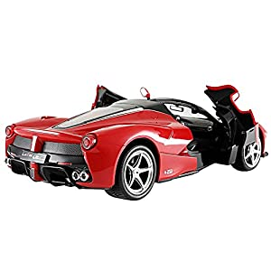 Licensed RC Car 1:14 Scale Ferrari LaFerrari Aperta with Drifting Function | Rastar Radio Remote Control 1/14 RTR Super Sports Car Model (Red)