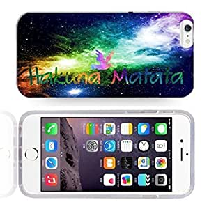 Africa Ancient Proverb HAKUNA MATATA Color Accelerating Universe Star Design Pattern HD Durable Hard Plastic Case Cover for iPhone 6 Plus hjbrhga1544