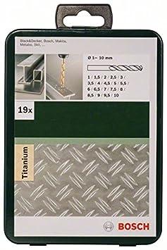 Bosch 2 609 255 113 Juego de 6 piezas de brocas para metal HSS-TiN DIN 338