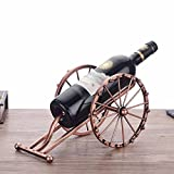 DZX Wine Rack Iron Art Ancient Cannon Bottle Shelf Vintage Nostalgia Personality Creativity Shelf Restaurant Hotel Cafe,A