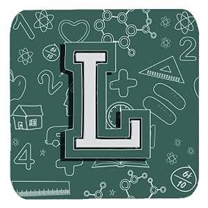 """Caroline's Treasures CJ2010-LFC Letter L Back to School Initial Foam Coasters (Set of 4), 3.5"""", Multicolor"""