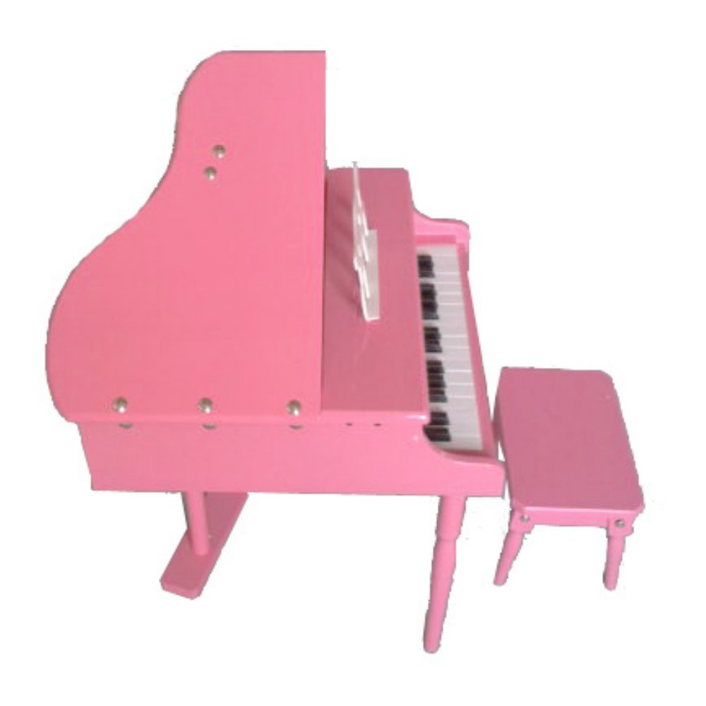 Merske 30-Key Toddlers Toy Grand Piano - Pink, Wood