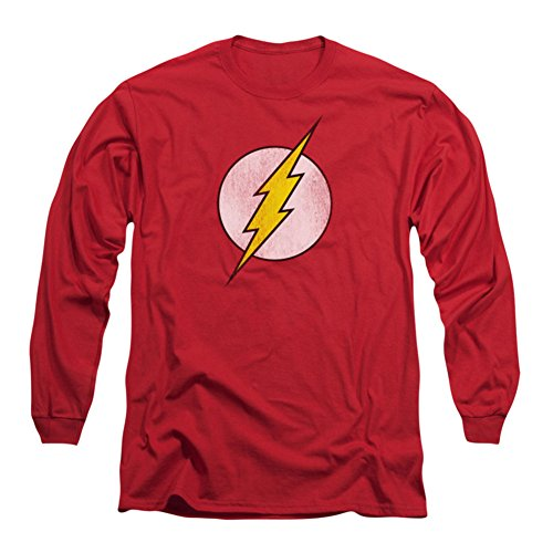 Flash Distressed Adult Long Sleeve T Shirt product image
