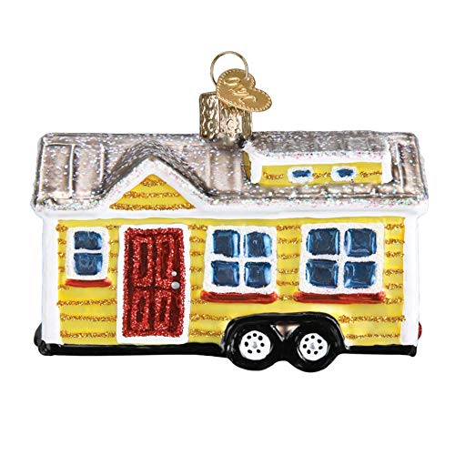 Old World Christmas Tiny House Glass Blown Ornament -