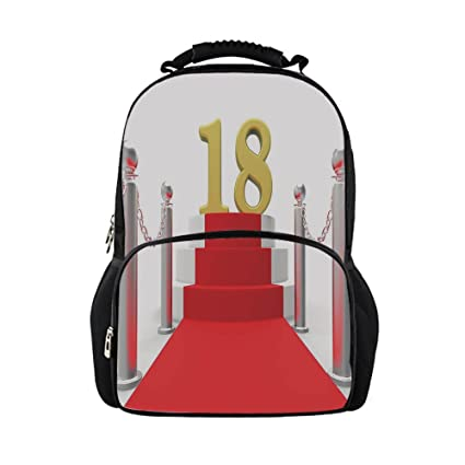 IPrint Kids School Bag 18th Birthday DecorationHollywood Greeting A 18 Year Old Star Party