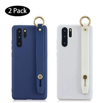 Leton [2 Pack] Funda Samsung Galaxy A50 Azul Blanco, Carcasa ...