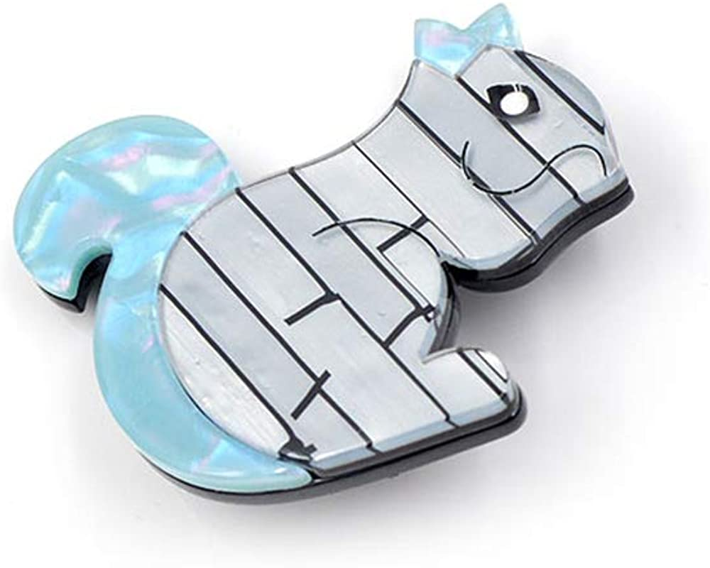 GLEEBROOCH Brooches for Women Fashion Acrylic Animal Brooch Pin Blue Color Fashion Jewelry