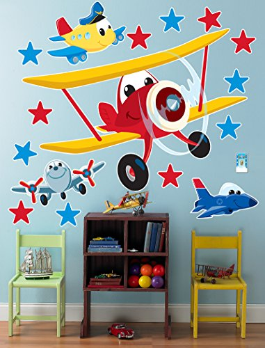 BirthdayExpress Airplane Adventure Room Decor - Giant Wall Decals by BirthdayExpress