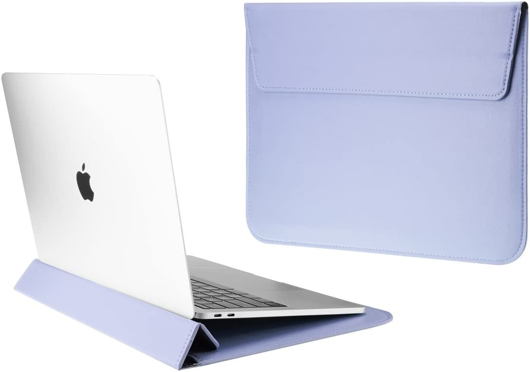 "TOP CASE - Synthetic Leather Ultra Slim Sleeve Case for 13"" Slim Laptop/MacBook Pro 13"" Retina (2012-2015) / MacBook Pro 13"" (2016/2017) / MacBook Air 13"" / iPad Pro / 13"" Ultra Book (Serenity Blue)"