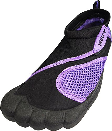 NORTY Womens Skeletoe Aqua Water Shoe, Black, Purple 39395-9B(M) US from NORTY