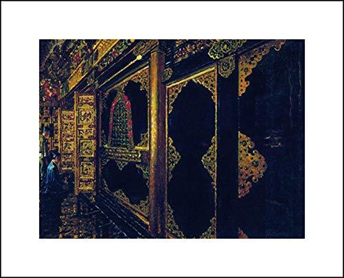 Vasily Vereshchagin 20x16 Art Print - Temple in Tokyo