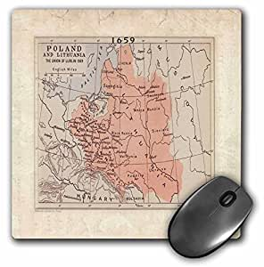 1569 Map Of Poland n Lithuania - Mouse Pad, 8 by 8 inches (mp_80778_1)