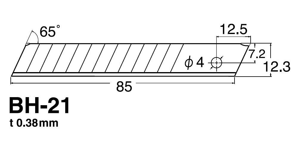 NT Cutter Lame BH 21P 12, 3mm VE = 10pezzi