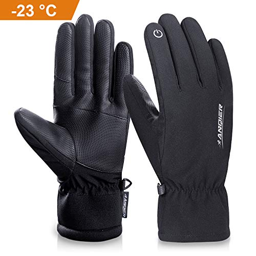 - anqier Winter Warm Touch Screen Gloves -10°F(-23℃) Cold Proof Thermal 3M Thinsulate Work Outdoor Sports Glove Windproof Water-Resistant Warm Hands in Cold Weather for Women Men(Large)