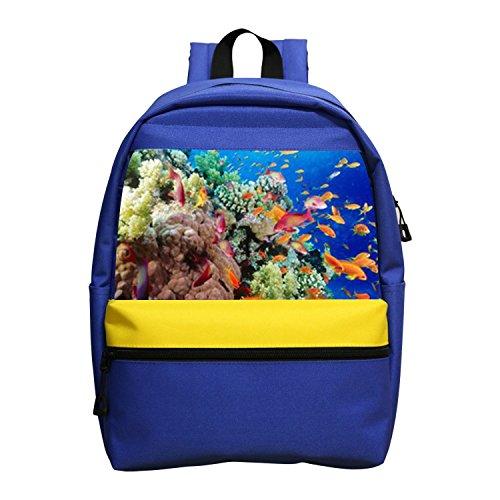 Colorful Fish Cute Marine Animal Kids School Backpack Children Book Bag For Girls Boys
