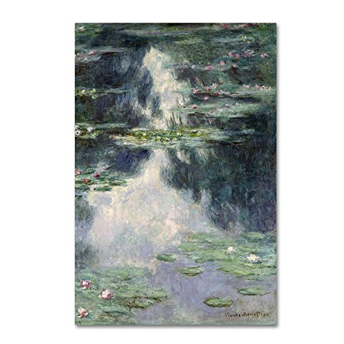 Pond With Water Lilies by Monet, 22x32-Inch Canvas Wall Art