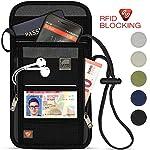 RFID Neck travel wallet : Passport holder