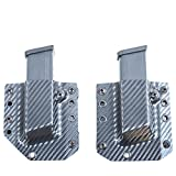 "Bravo Concealment Black Carbon Fiber Universal Single Magazine Holster Combo (1.5"" Belt Loops)"