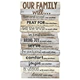 Lighthouse Christian Products Our Family Will Medium Wall Decor, 8 1/2 x 16 1/2""