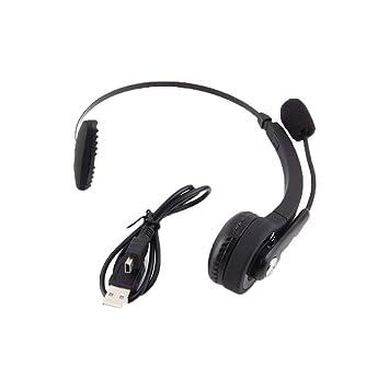 Auriculares inalámbricos Bluetooth para juegos con micrófono para PlayStation 3 PS3 LUFA