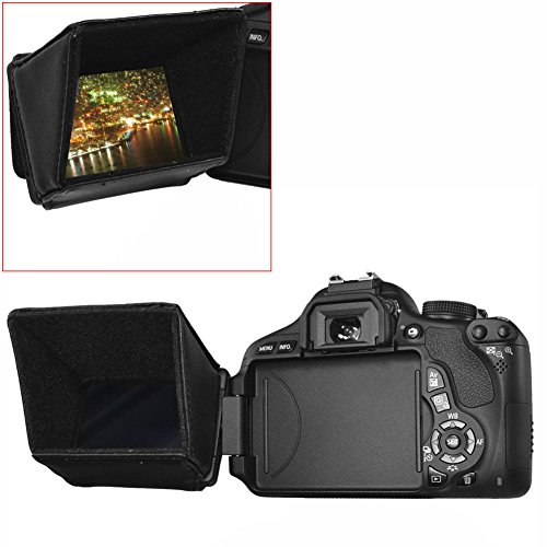 "Neewer 3.5"" LCD Screen Sun Shield Hood for DSLR Cameras and Camcorders, such as Canon VIXIA HF S20, S200, S21, S30, G10"