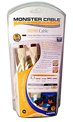 16 Ft  Monster Cable (Home Theater Series) HDMI Cable