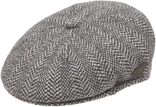 Kangol Men's Herringbone 504 Hat, Black, Medium