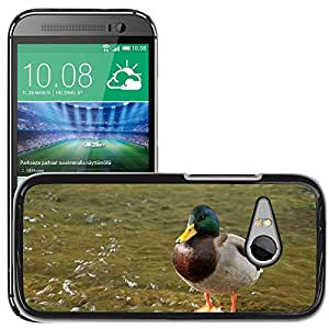 Super Stella Slim PC Hard Case Cover Skin Armor Shell Protection // M00145332 Duck Water Animal // HTC One Mini 2 / M8 MINI / (Not Fits M8)