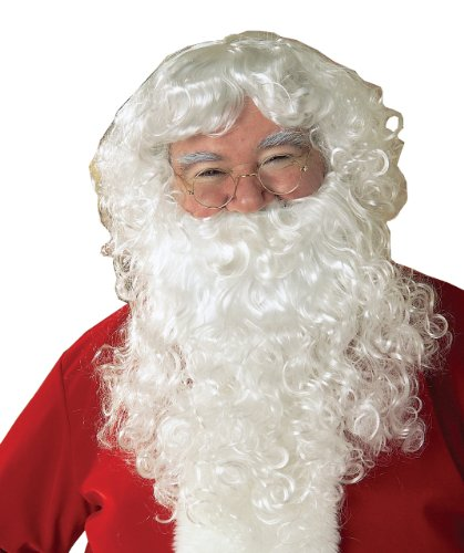 Rubie's Value Santa Beard And Wig Set, White, One Size - Apple White Wig