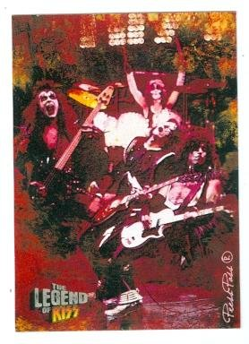 Kiss Card (Kiss trading card Kiss The Legend 2010 #11 Gene Simmons Ace Frehley Paul Stanley Peter Criss)