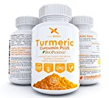 Crossbiotics Turmeric Curcumin + Bioperine – 2 MONTH Supply – 120 Capsules! Gelatin Free 1200mg Antioxidant, Anti-Inflammatory, Joint, Heart Health, 95% Curcuminoids + Black Pepper – All Natural!