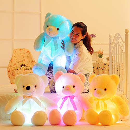 ROZA Stuffed & Plush Animals - 50cm Creative Light Up LED Teddy Bear Stuffed Animals Plush Toy Colorful Glowing Teddy Bear for Kids Pillow Toy 1 PCs for $<!--$21.97-->