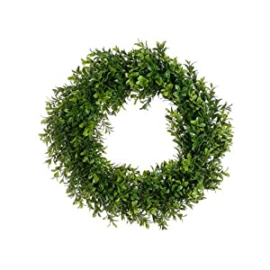 "17"" Boxwood Wreath Two Tone Green (Pack of 6) 42"