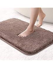 Bath mat non-slip bath mat thickened bath mat soft bath mat Fluffy microfiber bath rugs, super absorbent, machine washable, quick drying - 40 x 60cm
