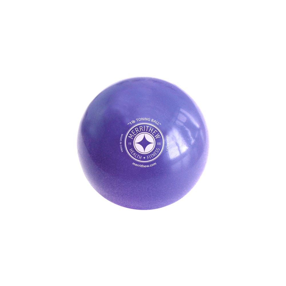 STOTT PILATES Toning Ball (Purple), 1 lbs / 0.45 kg