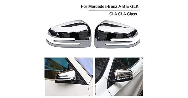 New Chrome Rearview Mirror Cover For Mercedes-Benz A B E GLK CLA GLA Class
