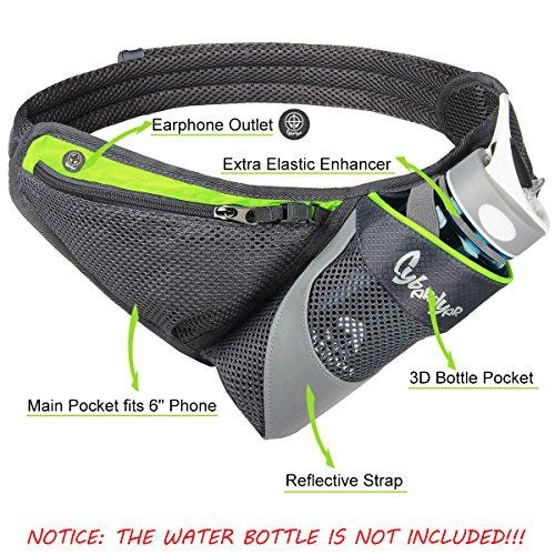 Cyberdyer Running Belt Hydration Waist Pack With Water
