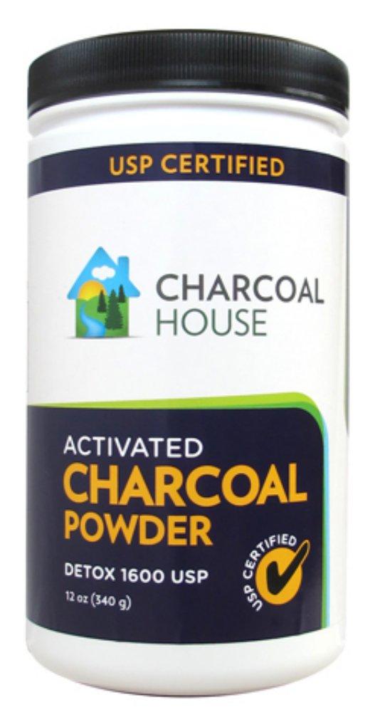 DETOX 1600 USP - Super Fine Coconut Activated Charcoal Powder - 12 oz