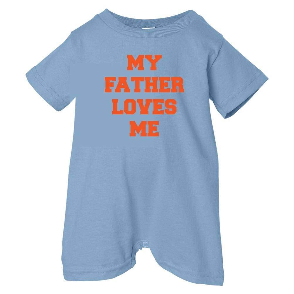 Unisex Baby My Father Loves Me T-Shirt Romper So Relative
