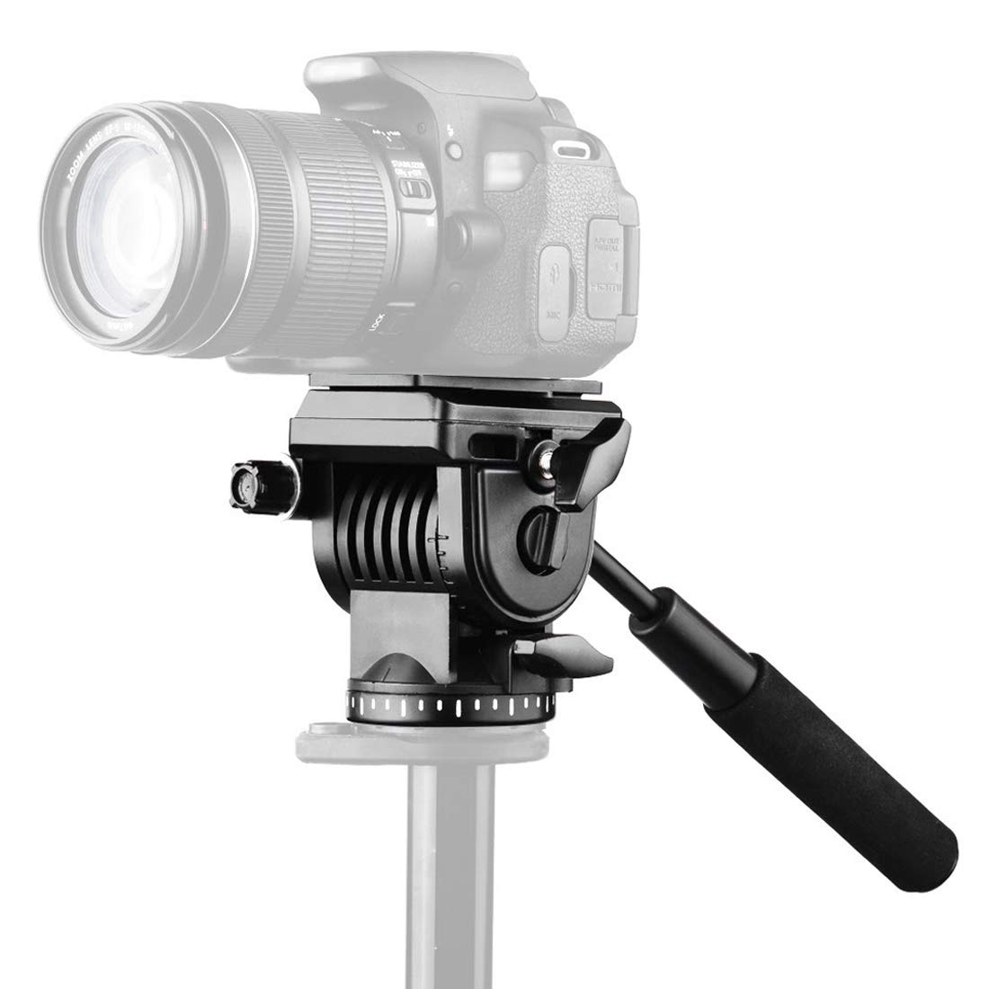 Dig 犬用骨 プラスチック 高耐久 ビデオカメラ 3次元三脚 アクション 液体 ドラッグヘッド スライドプレート付き デジタル一眼レフ/一眼レフカメラ用   B07L9NCQ8P