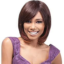 OUTRE Human Hair Premium Duby Wig - DUBY BANG (1B - Off Black)