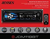 JENSEN JDM118BT Multimedia High Definition 7 Character LCD Single DIN Car Stereo Receiver with Built-In Bluetooth, USB & MP3 Player