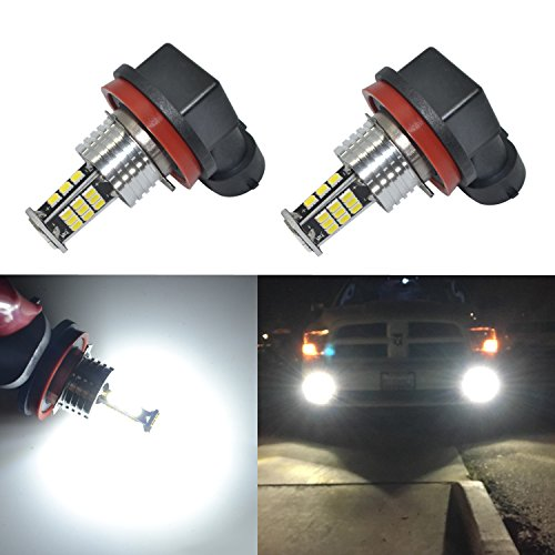 Replacement Lamp Auto - Alla Lighting 2000 Lumens H8 H16 H11 LED Bulbs High Power 3020 30-SMD Super Bright H8 H11 LED Fog Lights Bulbs 6000K White H16 H8 H11 LED Bulb for Fog Light DRL Bulbs Lamps Replacement