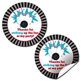 Bowling Birthday Party Sticker Labels, 20 2'' Party Circle Stickers by AmandaCreation, Great for Party Favors, Envelope Seals & Goodie Bags