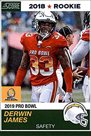 4ea1af2f3e1 2018 Panini Instant NFL Pro Bowl 1989 Score Design Football #15 Derwin  James RC Rookie