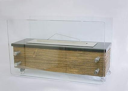 Lareira Ecológica a álcool ou etanol Rústica 68cm