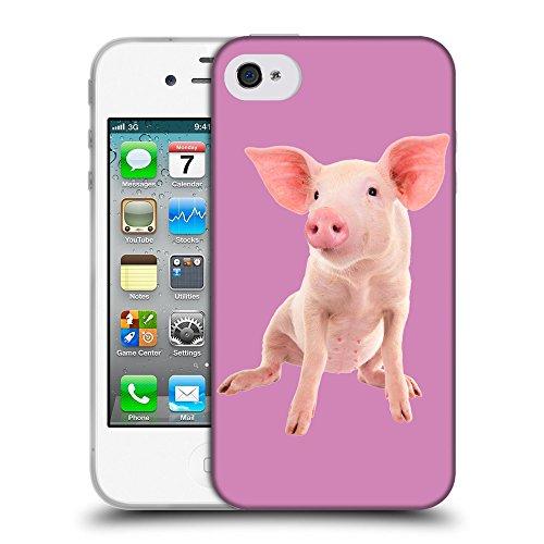 GoGoMobile Coque de Protection TPU Silicone Case pour // Q05580618 Porc bébé Bronzo // Apple iPhone 4 4S 4G