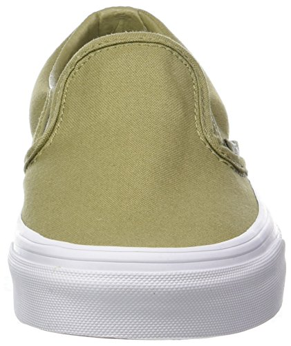 Vans Classic mono on Baskets Vert Canvas Enfiler Adulte Slip Mixte rrdwSaRq